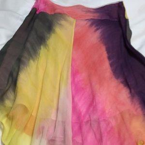 100% silk BCBG skirt